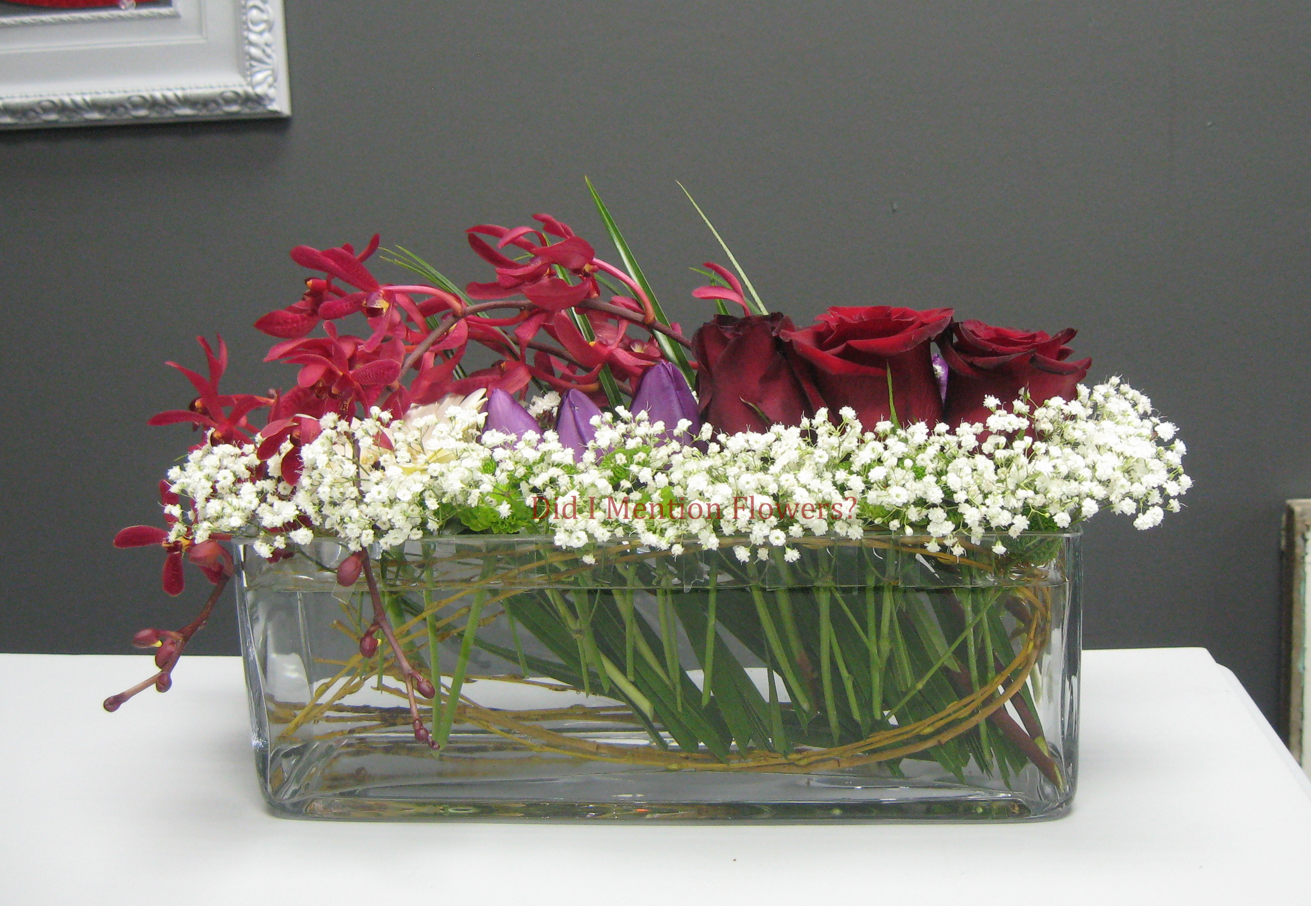 8 - Rectangle Vase Arrangement