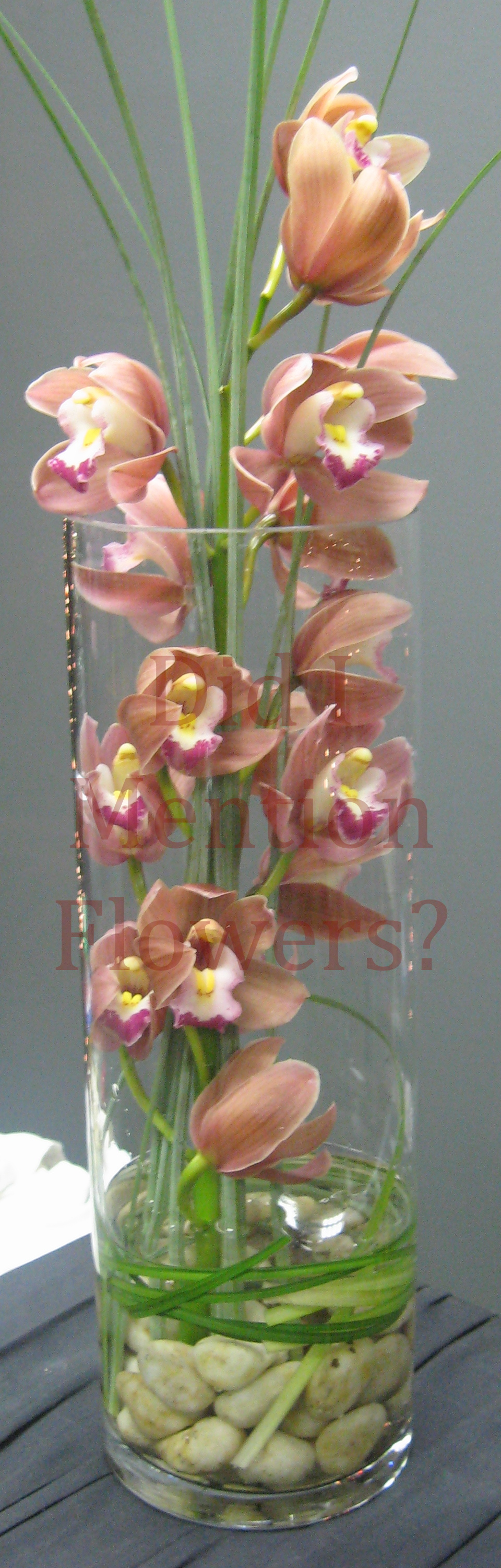 15 - Mini Cymbidium Orchid Vase Arrange.