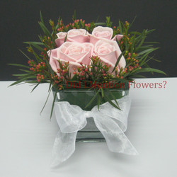 14 - Love Cubed Rose Vase Arrangement