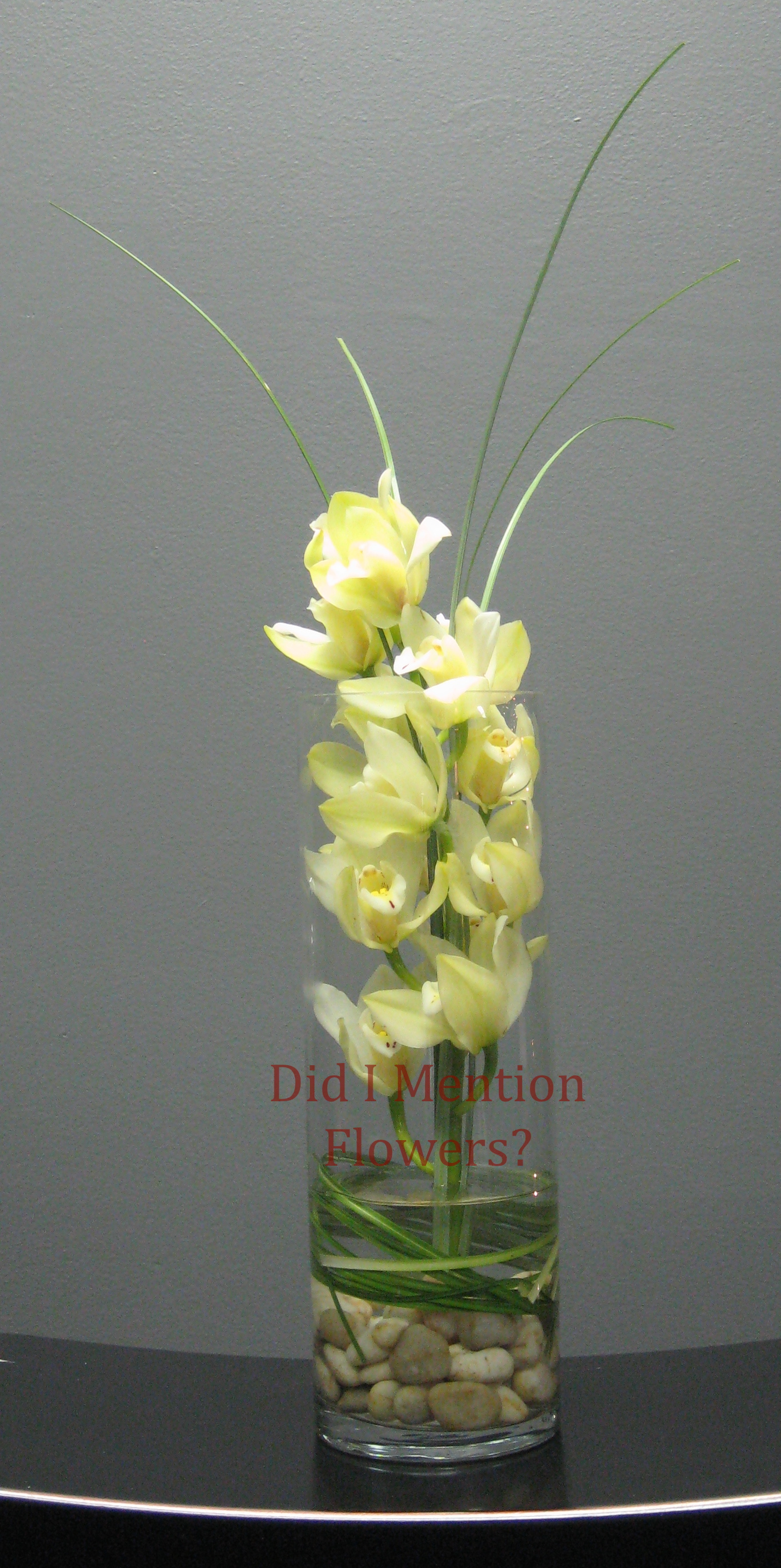 12 - Mini Cymbidium Orchids in a Vase