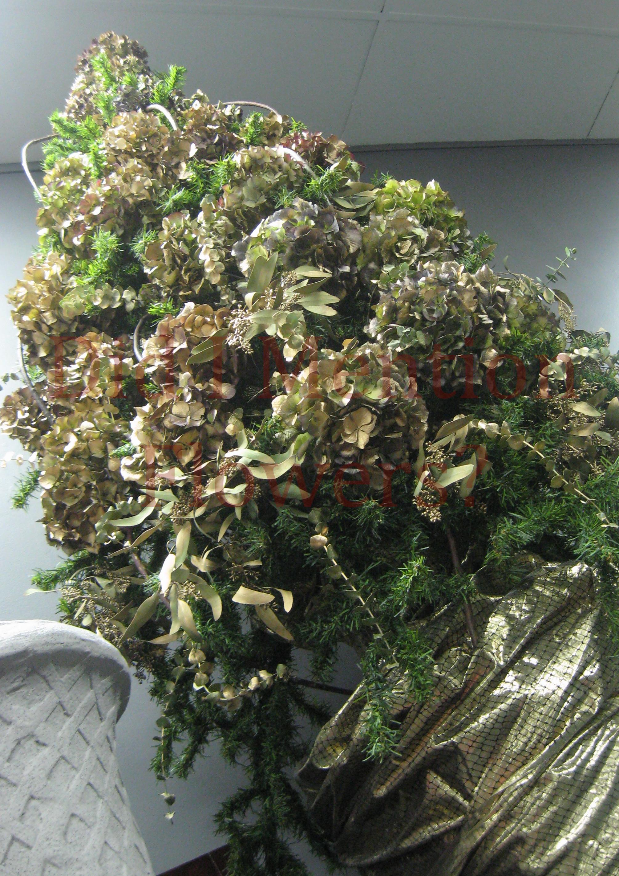 12 - Dried Hydrangea Tree - Artificial