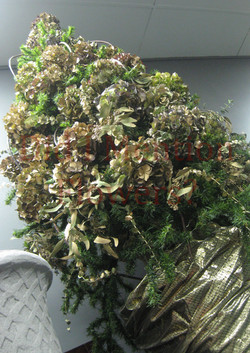 12 - Dried Hydrangea Tree - Artificial