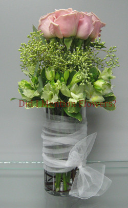 15 - Six Pack of Love Rose Vase Arrangement
