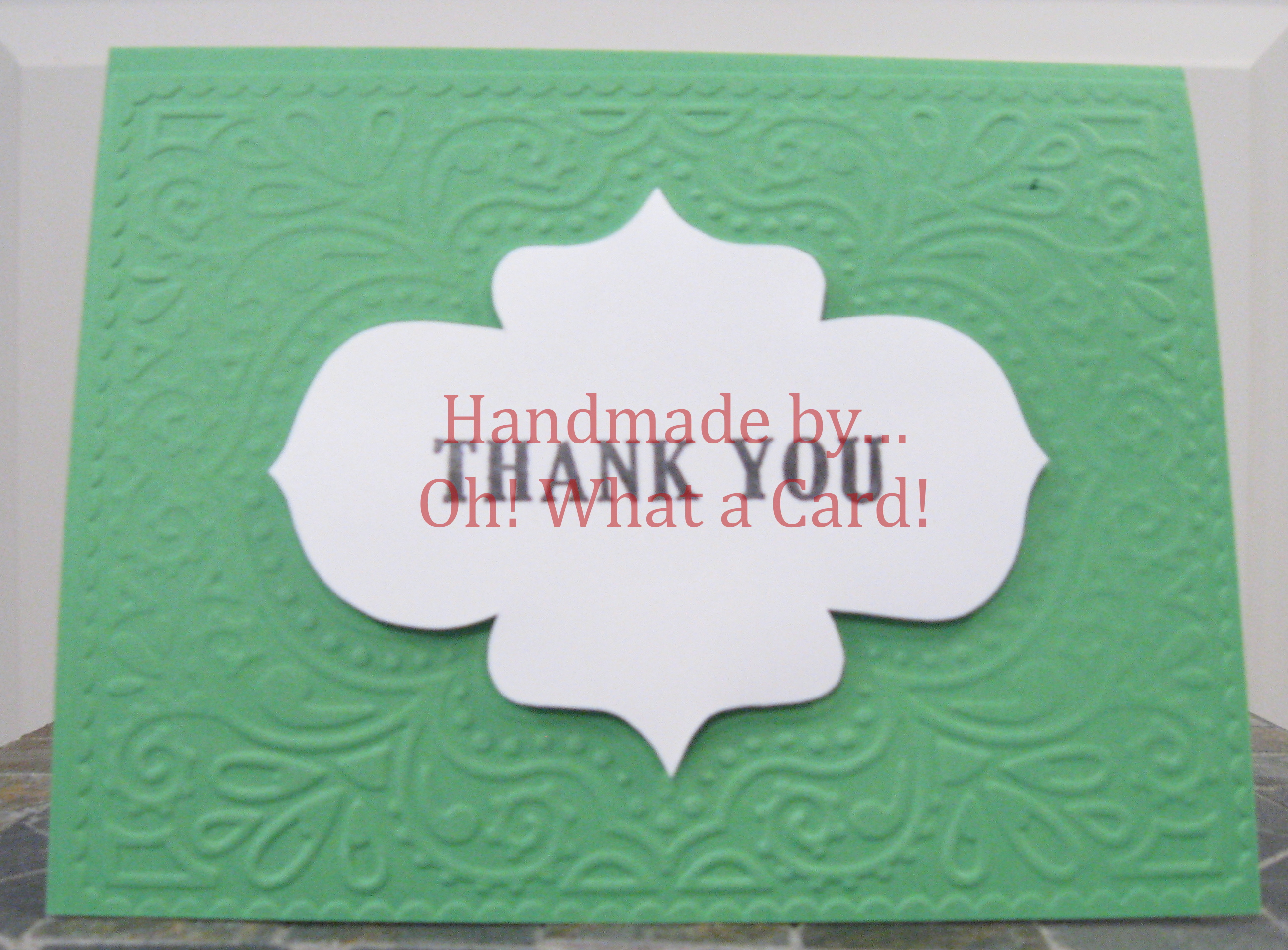15 - Green Thank You Card