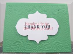 15 - Green Thank You Card