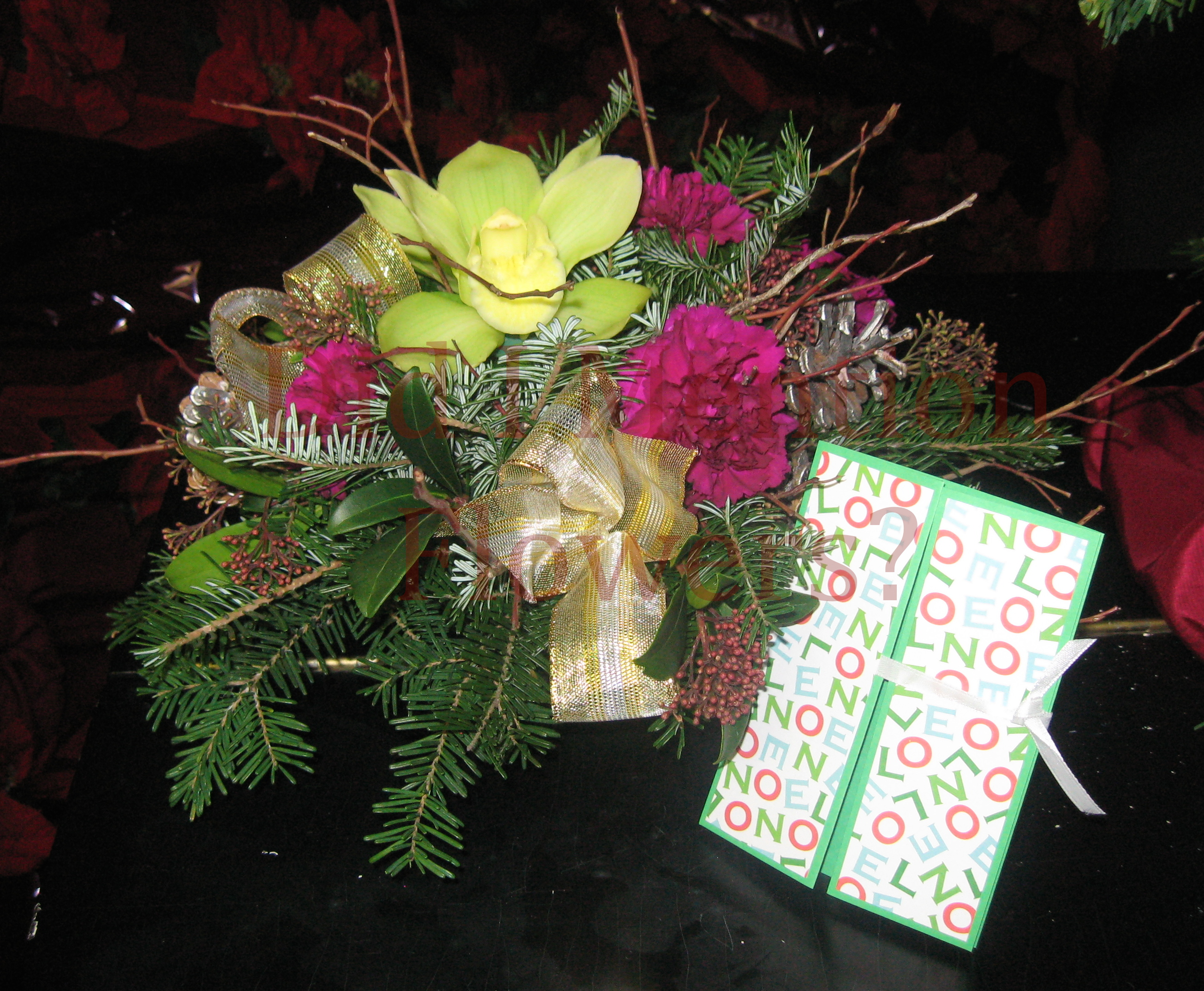9 - Christmas Centrepiece with Card