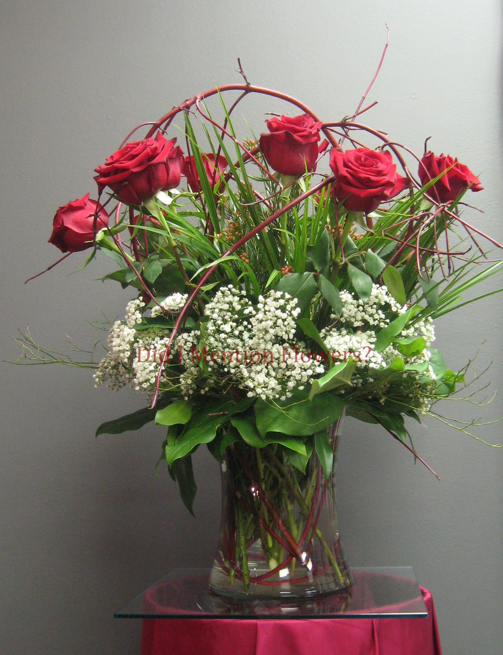 9 - Glass Vase Arrangement