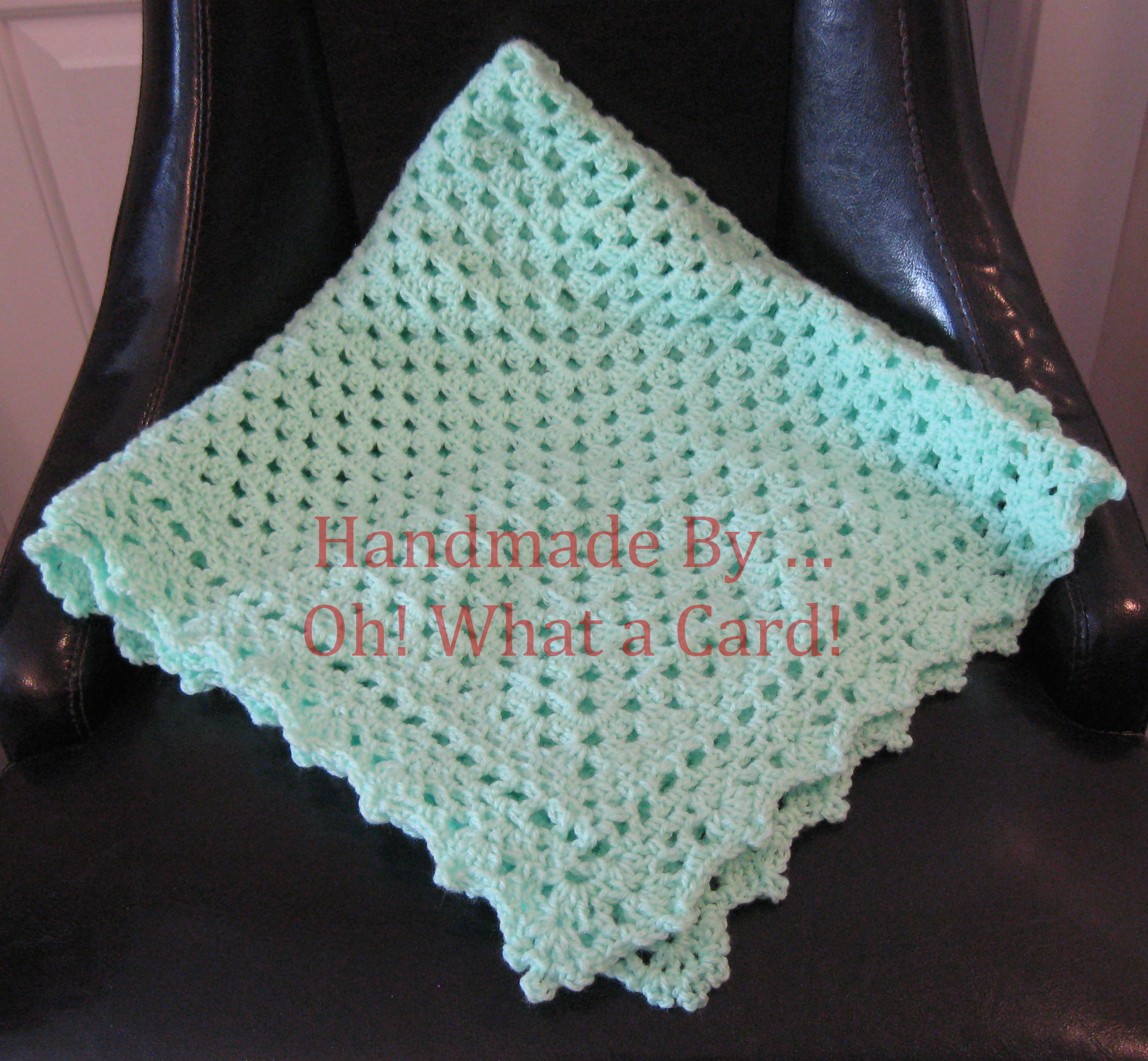 8 - Green Baby Blanket