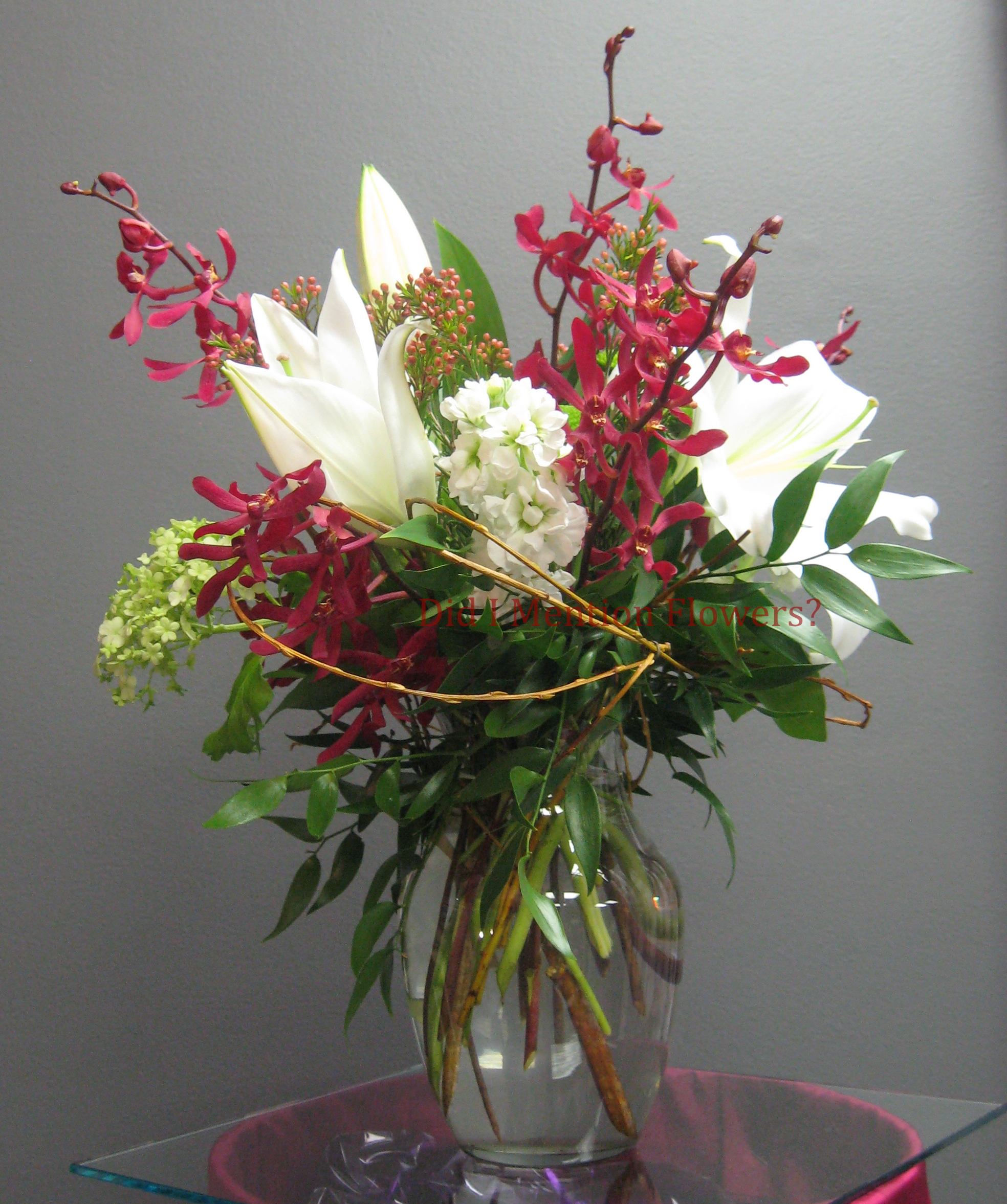 12 - Glass Vase Arrangement
