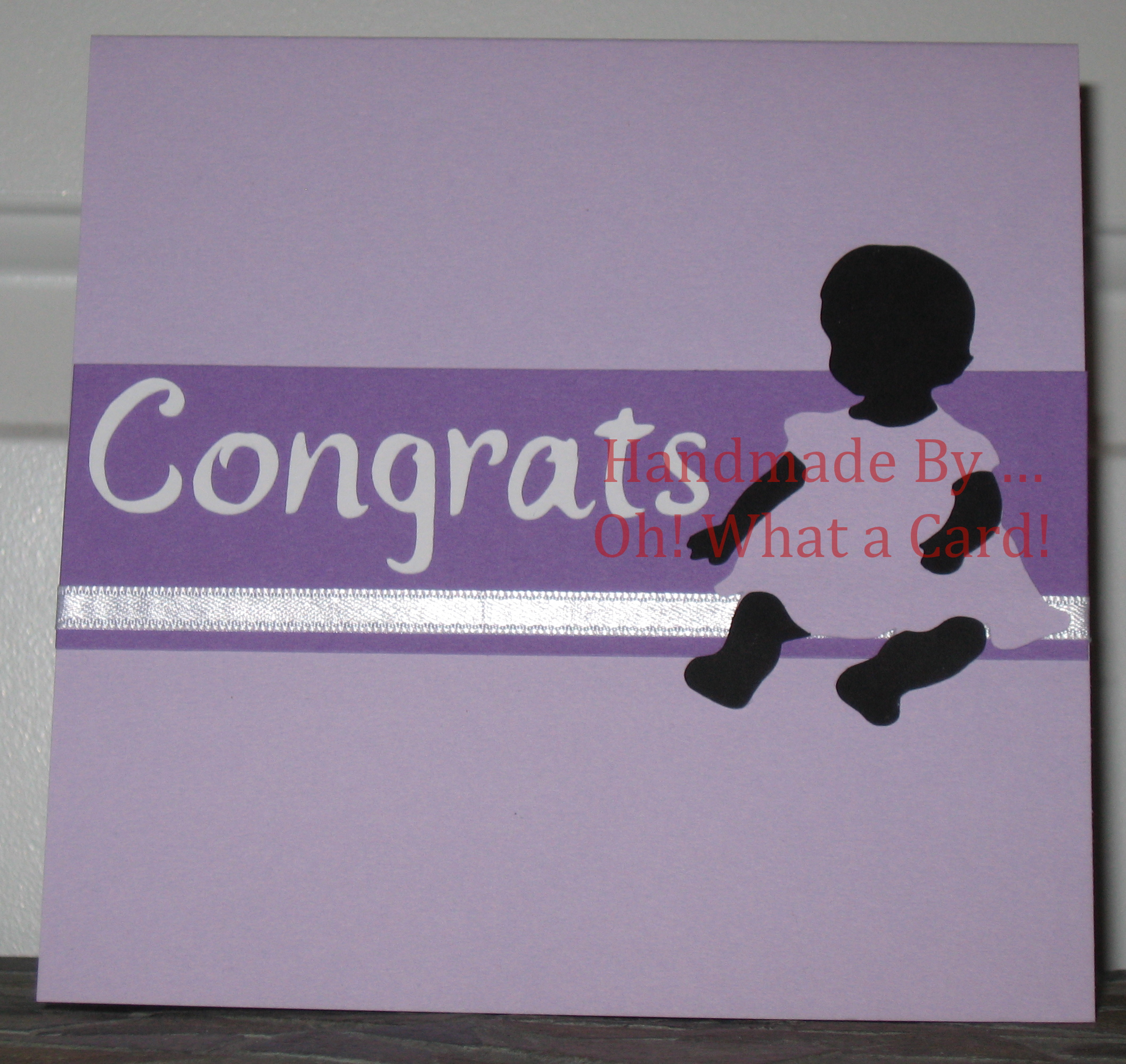 12 - Baby Congrats - Purple Dress Card