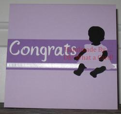 12 - Baby Congrats - Purple Dress Card