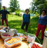 Repas au jardin