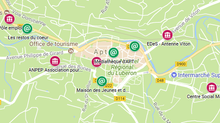 Carte interactive des points d'accès numériques à APT.