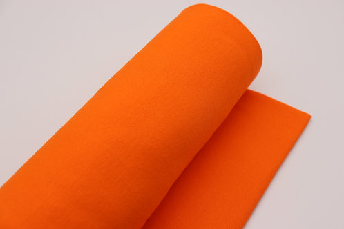 Bündchen Stoff - Orange Uni