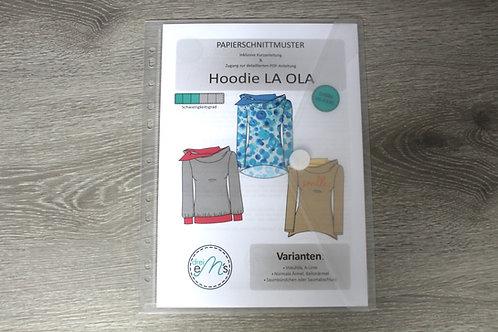 Papierschnittmuster Hoodie LA OLA by drei eM´s