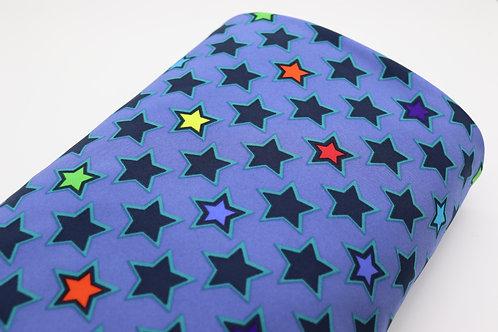 Softshell Stoff - Stern Blau