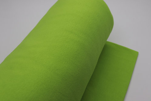 Bündchen Stoff - Grün Uni