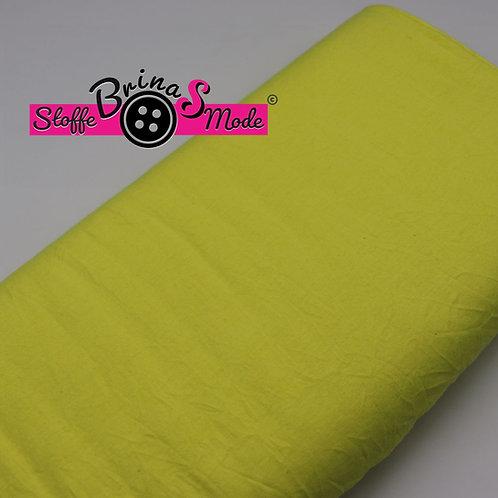 Jersey Stoff - Gelb Uni (Extraleicht mit Knitterlook)