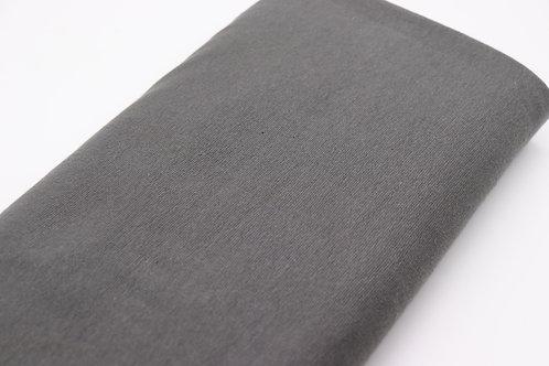 Bündchen Stoff - Grau Uni