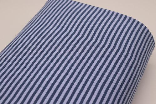 Bündchen Stoff - Hellblau-blau Streifen
