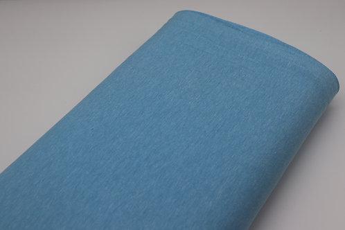 Jersey Stoff - Hellblau meliert
