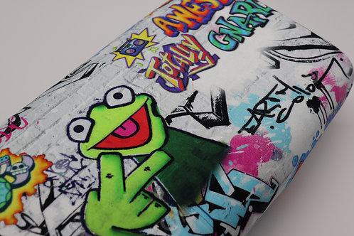 Sweatshirt Stoff - Frosch