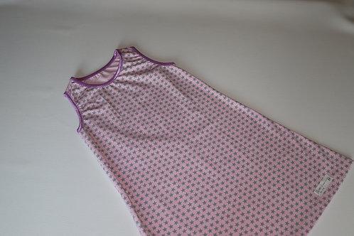 Sommerkleid - Stern - Rosa - Größe 122