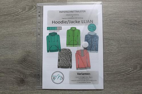Papierschnittmuster Hoodie/ Jacke LUAN by drei eM´s
