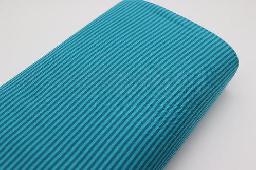 Bündchen Stoff - Blau Streifen