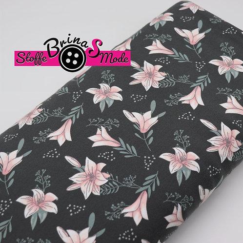 Jersey Stoff - Blume