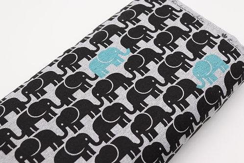 Jersey Stoff - Elefant