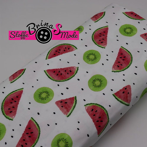 Jersey Stoff - Melone