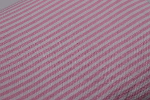 Bündchen Stoff - Rosa-weiss Streifen