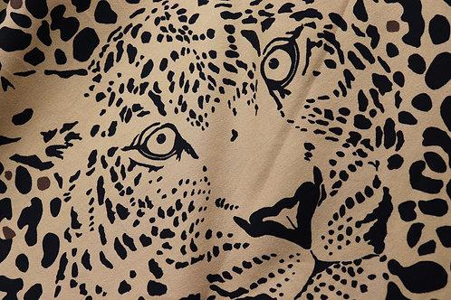 Jersey Stoff Panel - Leopard