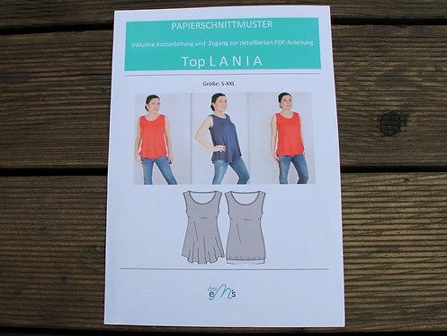 Papierschnittmuster Top LANIA by drei eM´s
