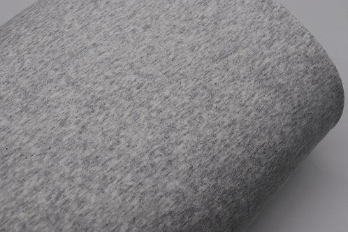 Alpenfleece Stoff - Grau meliert