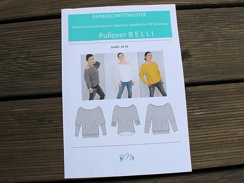 Papierschnittmuster Pullover BELLI by drei eM´s