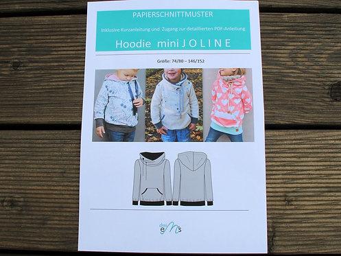 Papierschnittmuster Hoodie mini JOLINE by drei eM´s