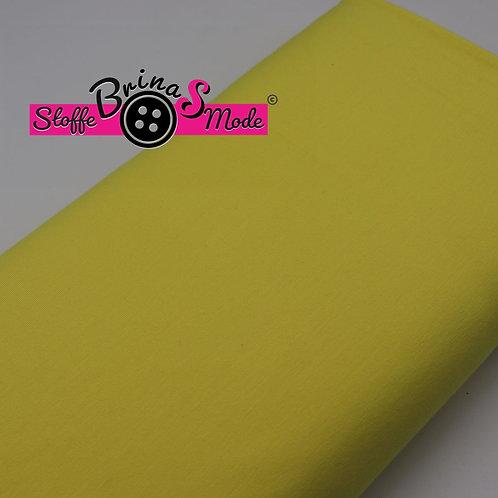 Jersey Stoff - Gelb Uni