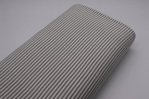 Bündchen Stoff - Grau Streifen