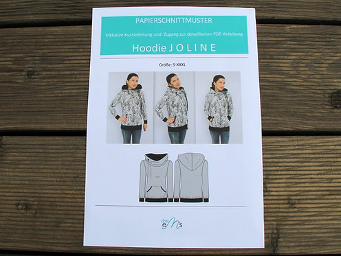 Papierschnittmuster Hoodie JOLINE by drei eM´s