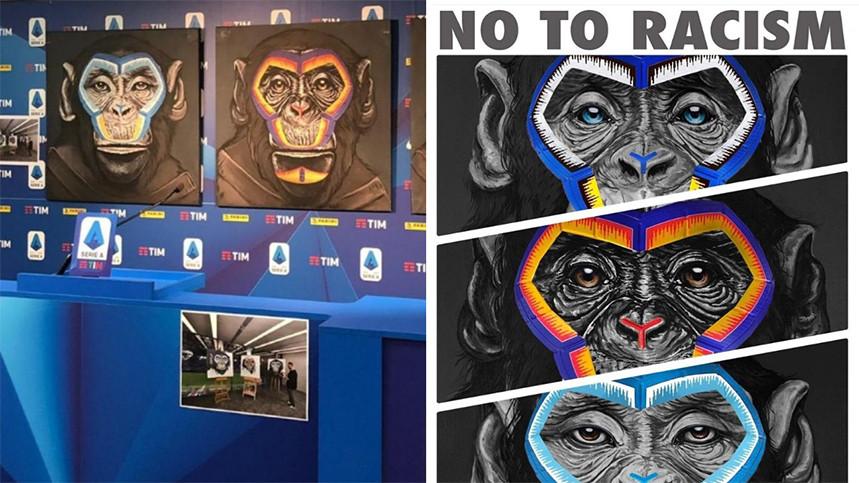 Serie A 'No to Racism' Campaign Artwork