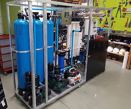Reverse Osmosis and ultrafiltration package plant