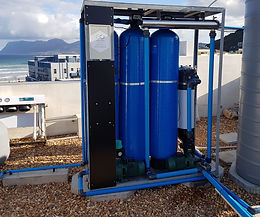 Commercial borehole treatment unit