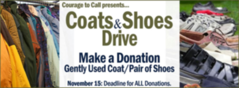 Coats & Shoes Drive: Deadline for ALL Donations (November 15)
