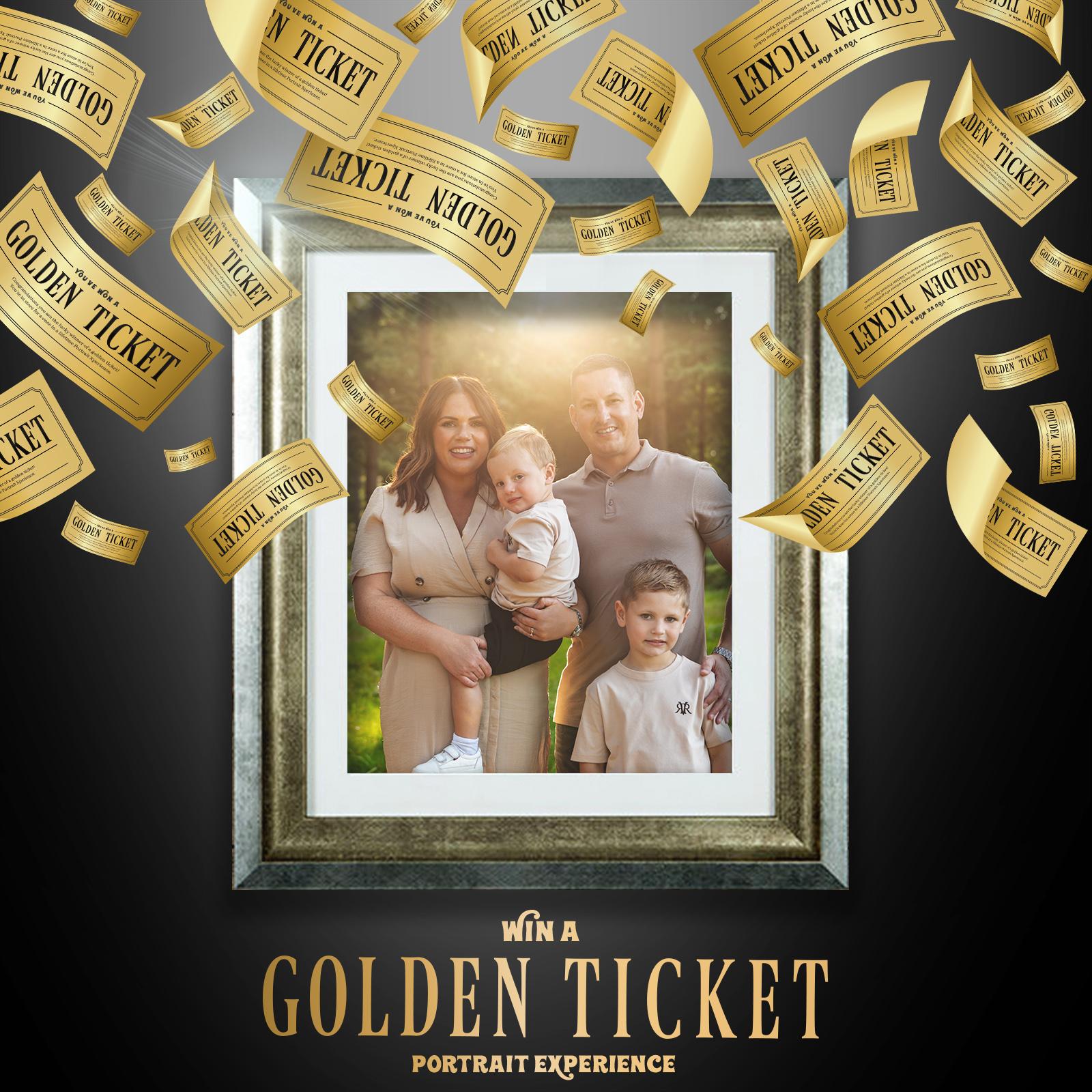 Golden Ticket Portrait Ad