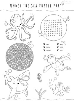 Puzzles & Colouring