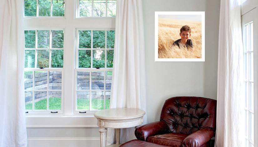 Modern White Portrait Frame