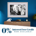 0% Interest Free Credit Options Available