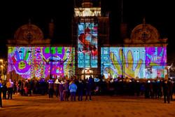 Ossett Town Hall projection